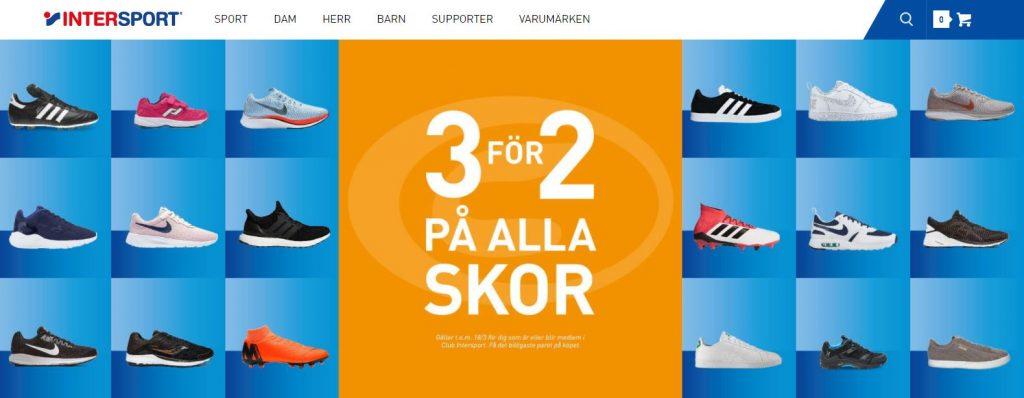 3 för 2 på skor – gratisapan